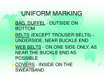 uniform marking1