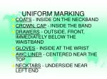 uniform marking2