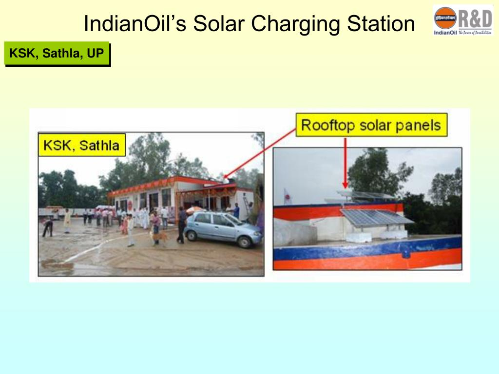 IndianOil's Solar Charging Station