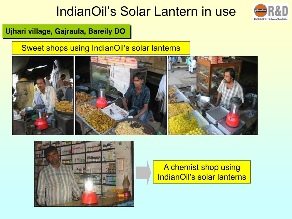 IndianOil's Solar Lantern in use