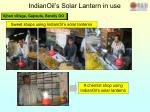 indianoil s solar lantern in use