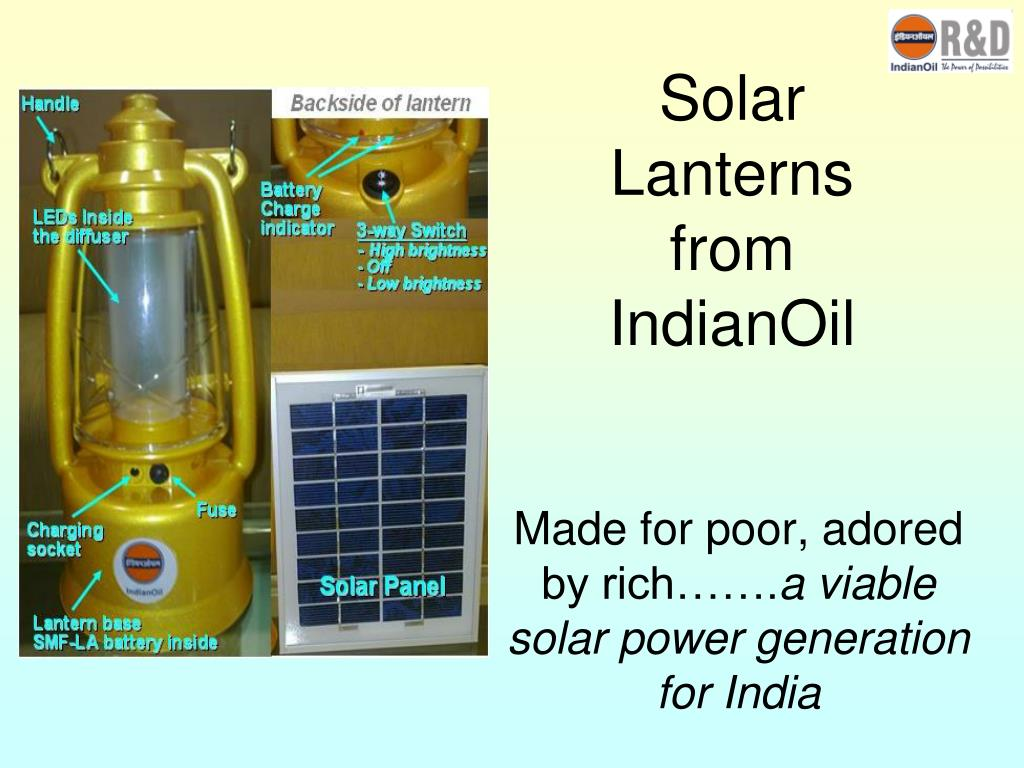 Solar Lanterns from IndianOil