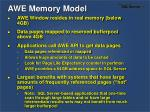 awe memory model