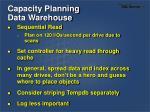 capacity planning data warehouse