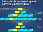 example non clustering index carrying clustering key