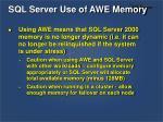sql server use of awe memory