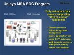 unisys msa edc program