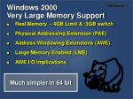 windows 2000 very large memory support