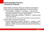 networking best practices connection timeouts