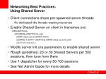networking best practices using shared server