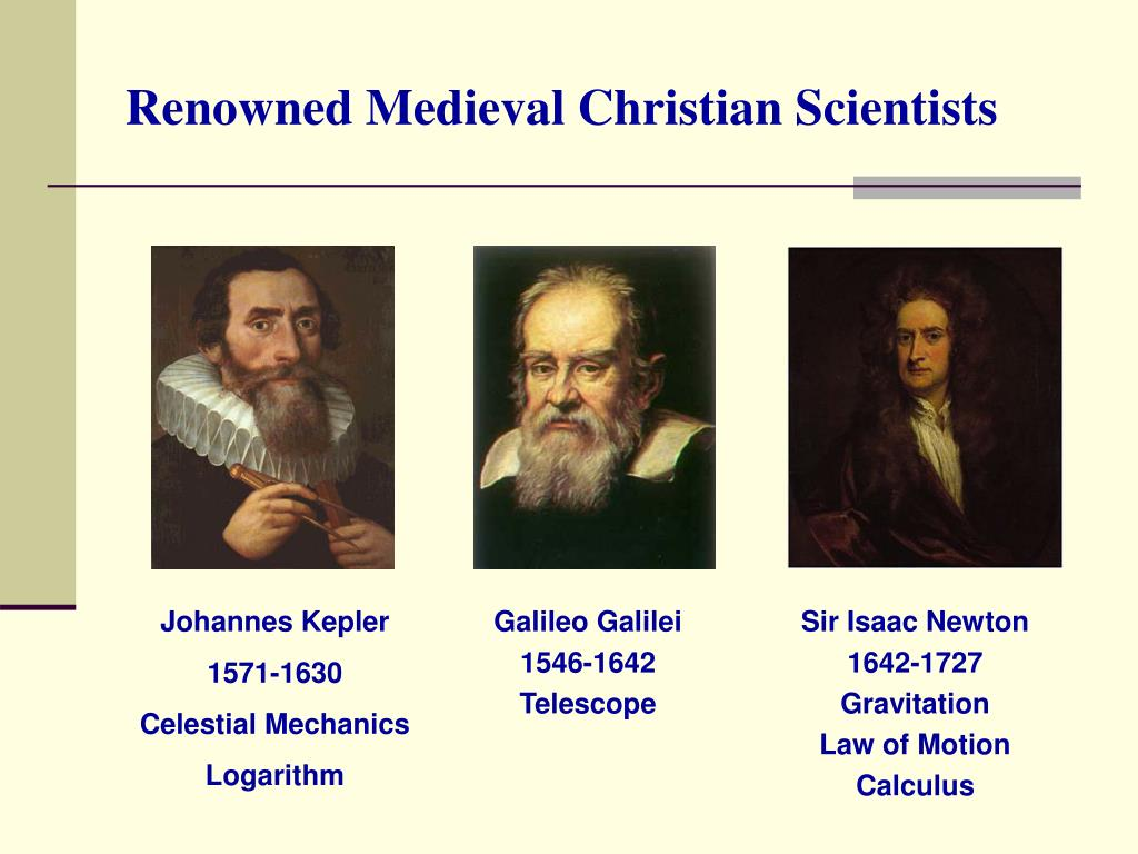 Renowned Medieval Christian Scientists