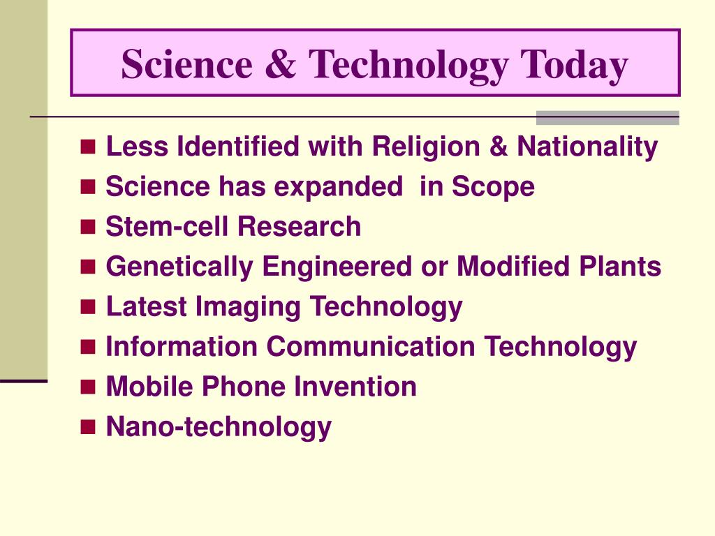 Science & Technology Today