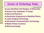 science technology today