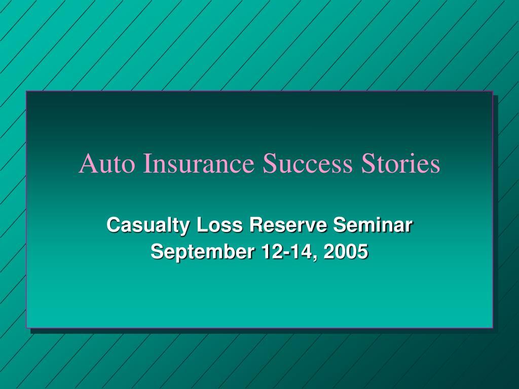 auto insurance success stories l.