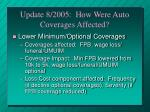 update 8 2005 how were auto coverages affected26