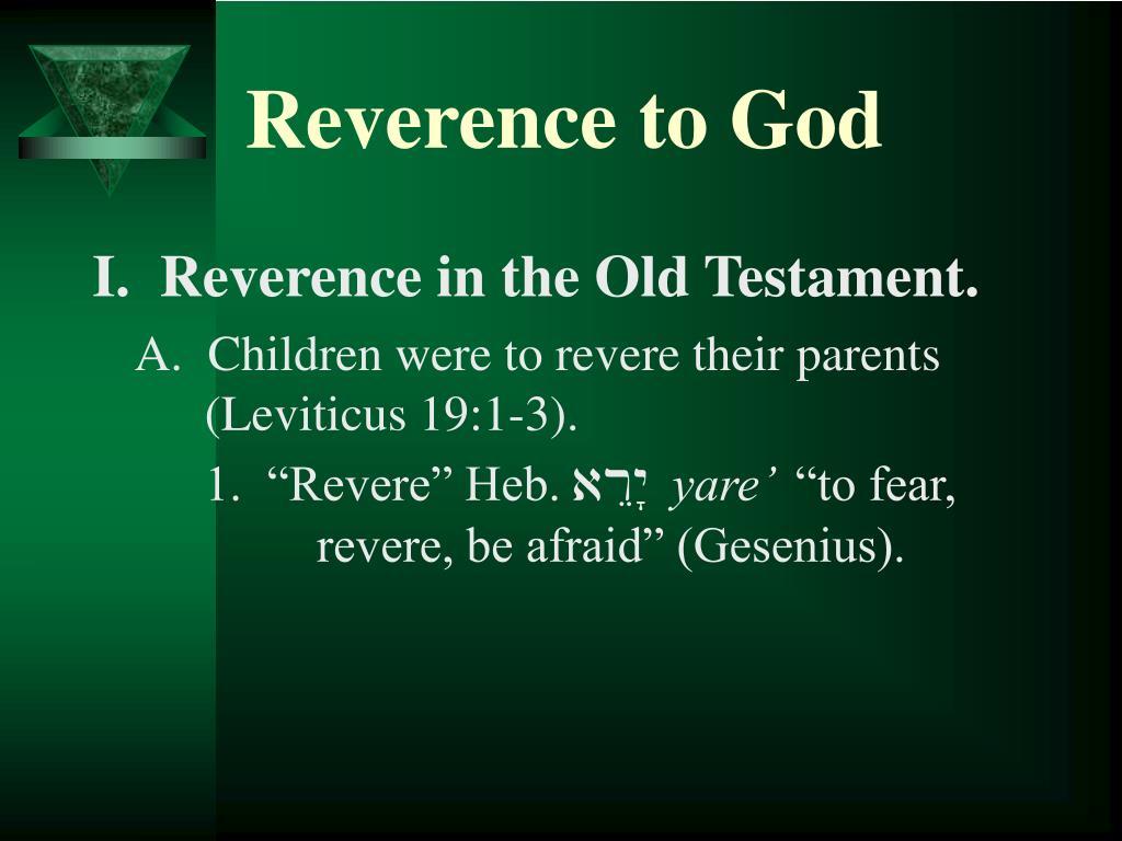 reverence to god l.