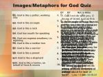 images metaphors for god quiz