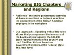 marketing big chapters and regions