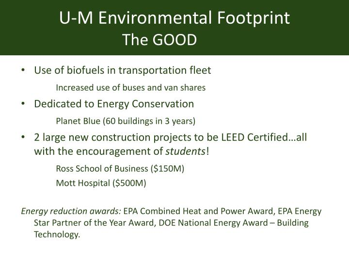U-M Environmental Footprint