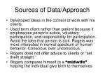 sources of data approach
