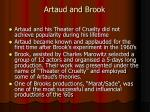 artaud and brook