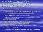 what s the purpose of good questioning in a classroom