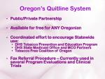 oregon s quitline system