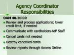 agency coordinator responsibilities