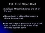 fall from steep roof