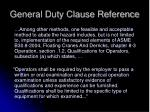 general duty clause reference