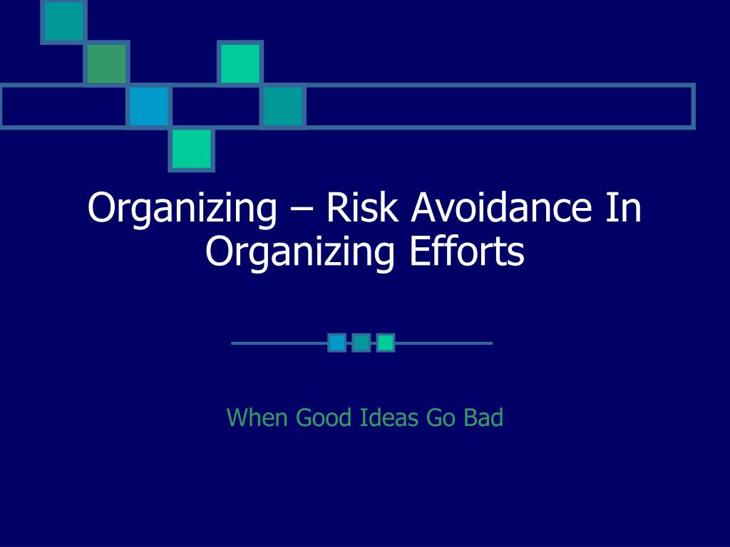 organizing risk avoidance in organizing efforts l.