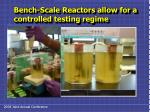 bench scale reactors allow for a controlled testing regime
