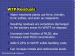 wtp residuals