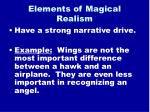 elements of magical realism11