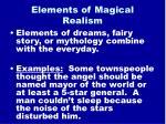 elements of magical realism9