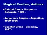 magical realism authors