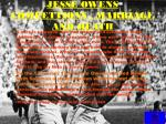 jesse owens compettions marriage and death