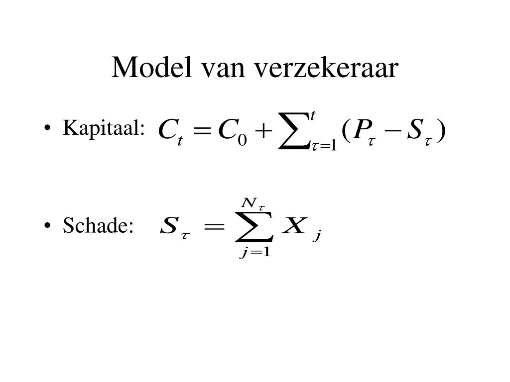 Model van verzekeraar