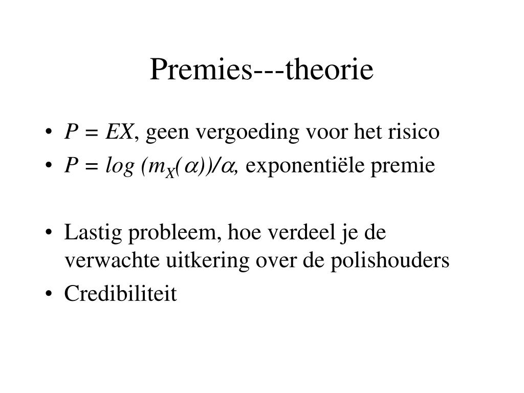 Premies---theorie
