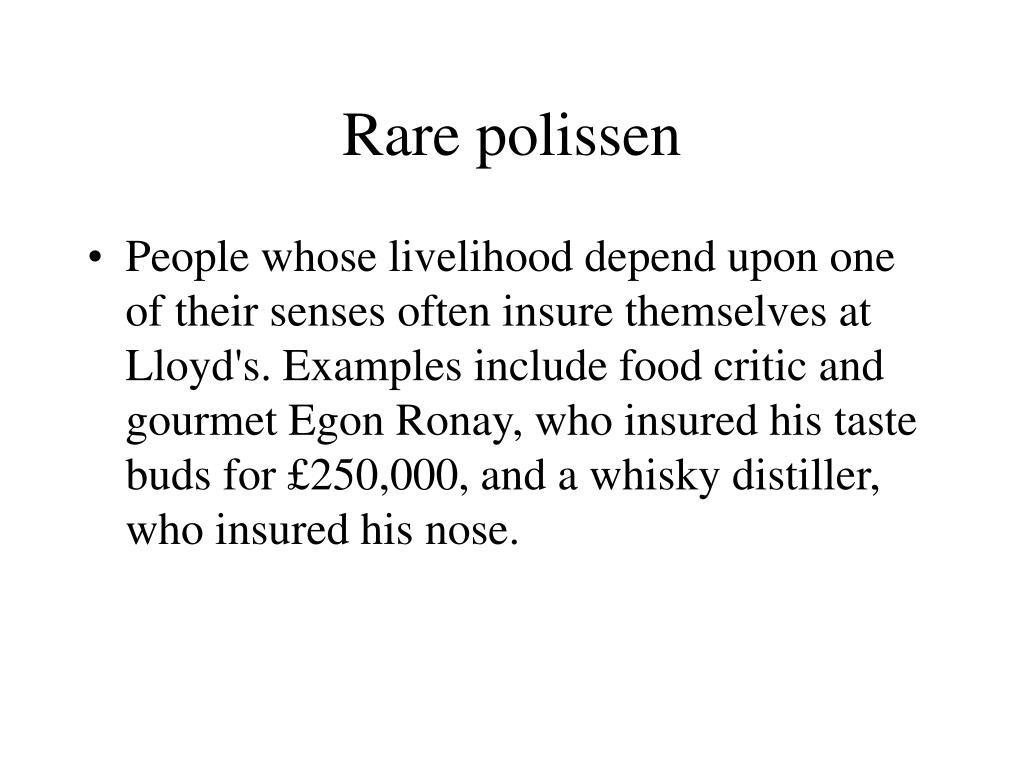 Rare polissen