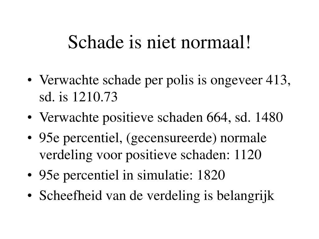 Schade is niet normaal!
