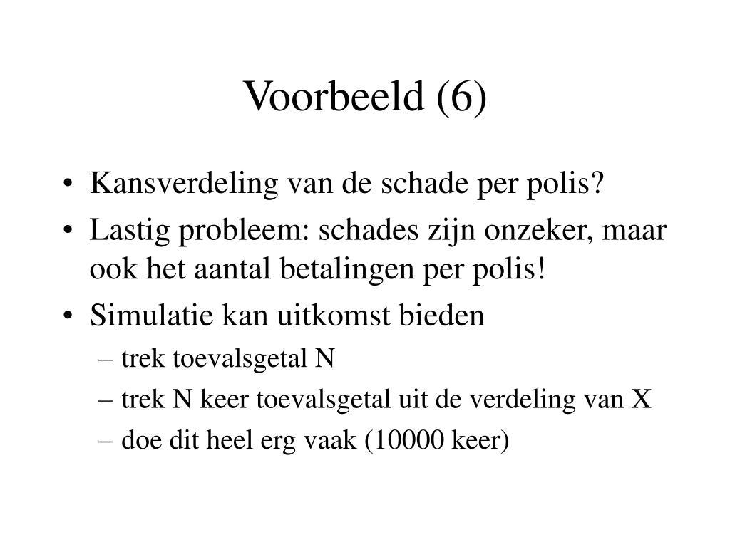 Voorbeeld (6)