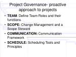 project governance proactive approach to projects
