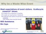 why be a waste wise event