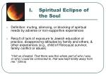 spiritual eclipse of the soul