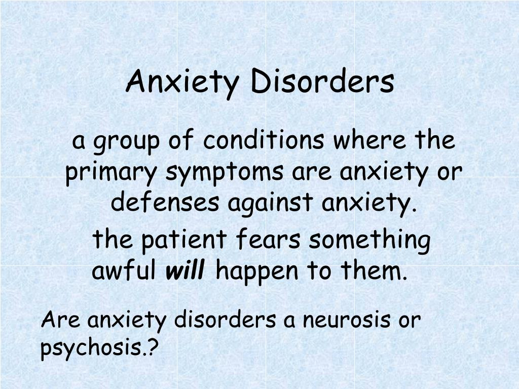 anxiety disorders l.