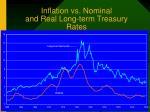 inflation vs nominal and real long term treasury rates
