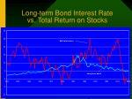 long term bond interest rate vs total return on stocks