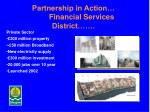 partnership in action financial services district1