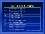 avs result codes